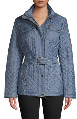 Michael Kors Quilted Belted Jacket