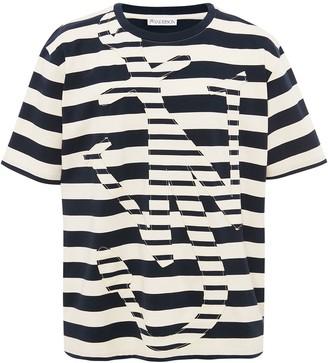 J.W.Anderson stripe Anchor motif T-shirt