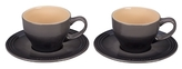 Le Creuset Cappuccino Cups and Saucers Set (4 PC)