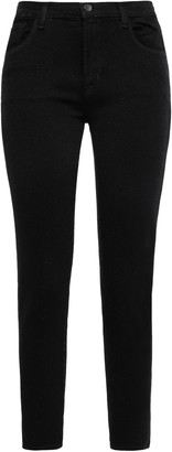 J Brand Cropped Glittered Mid-rise Skinny Jeans