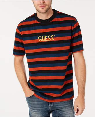 GUESS Men Striped Logo T-Shirt