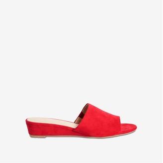 Joe Fresh Women's Micro Wedge Mules, Red (Size 10)
