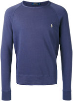 Polo Ralph Lauren logo embroidered sweatshirt - men - Cotton - S