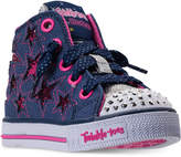 Skechers Little Girls' Twinkle Toes: Shuffles - Li'l Rockin' Star High Top Casual Sneakers from Finish Line