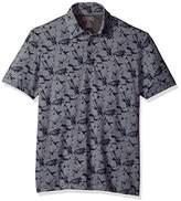 Van Heusen Men's Air Print Self Collar Polo