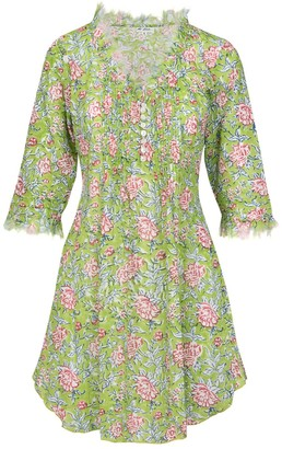 At Last... Cotton Annabel Tunic- Floral Green