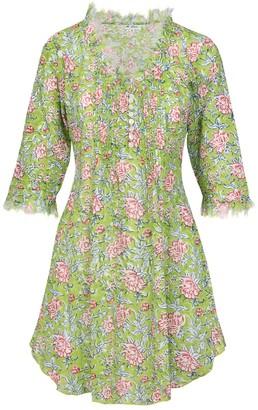AtLAST Cotton Annabel Tunic- Floral Green