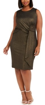 Taylor Plus Size Side-Ruched Dress