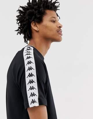Kappa Banda Coen t-shirt with logo taping in black