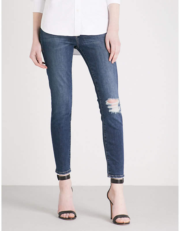 Good American Good Waist skinny cropped high-rise jeans
