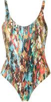 Lygia & Nanny - printed bodysuit - women - Polyamide/Spandex/Elastane - 38