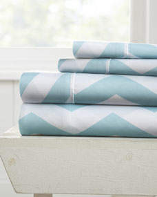 IENJOY HOME Chevron 4-Piece Bed Sheet Set, Full