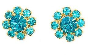Rosaspina Firenze Florentine Garden Blue Zircon Stud Earrings