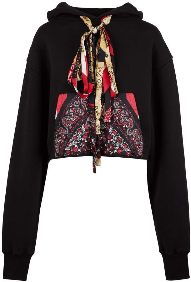 Alanui Silk sweatshirt with pocket