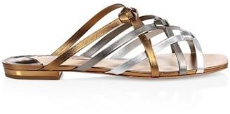 Sophia Webster Ramona Flat Metallic Leather Sandals