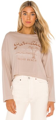 Amuse Society Relax Beach Long Sleeve Knit Tee