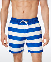G Star Men's Dirk Striped Swim Trunks