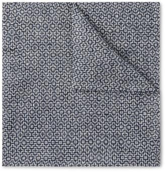 Favourbrook Halton Cotton, Linen And Silk-Blend Jacquard Pocket Square