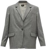 Isabel Marant Melinda Single-breasted Houndstooth Wool Blazer - Womens - Dark Grey