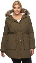 Apt. 9 Plus Size Hooded Faux-Fur Anorak Parka