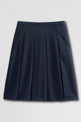 Lands' End Women's Box Pleat Skirt (Above The Knee)