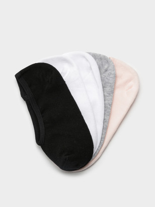 Nude Lucy No-Show Invisible Socks 5-Pack in Pink Grey White Black