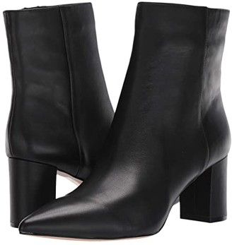 J.Crew Leather Pointy Toe Maya Boot (Black) Women's Shoes