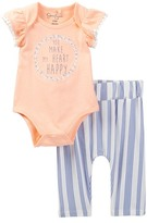 Jessica Simpson Bodysuit & Printed Pant Set (Baby Girls)