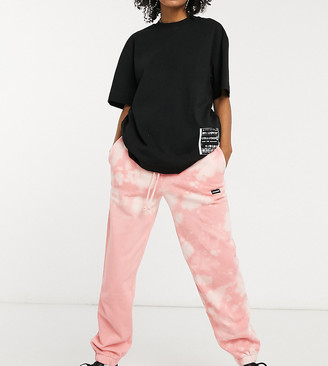 Collusion pink bleach wash joggers
