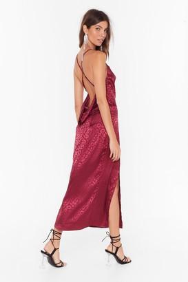 Nasty Gal Womens Prey Tell Cowl Midi Dress - Red - 12
