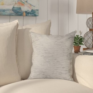 """Highland Dunes Boubacar Marled Knit Outdoor Square Pillow Cover & Insert Size: 20"""" H x 20"""" W, Color: Gray"""