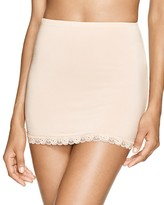 Hanky Panky Silky Fitted Lace Trim Half Slip