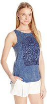 Lucky Brand Women's Window Embroidery Tank Top