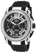 Elini Barokas 20014-01 Men's King Chronograph Black Silicone and Dial