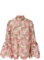 Anna Sui Dear Dusty Rose Lace Top
