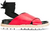 Marni Sandalo Fusbett Laccio sandals - women - Leather/rubber - 35