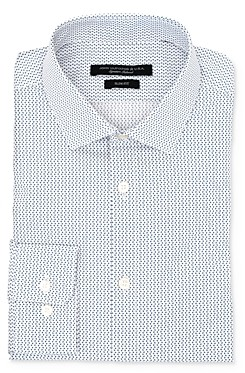 John Varvatos U Print Wrinkle-Resistant Slim Fit Dress Shirt