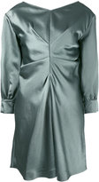 Isabel Marant metallic ruched dress - women - Ramie/Viscose - 36
