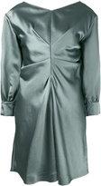 Isabel Marant metallic ruched dress - women - Viscose/Ramie - 36