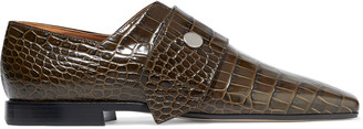 Victoria Beckham Croc-effect Leather Loafers