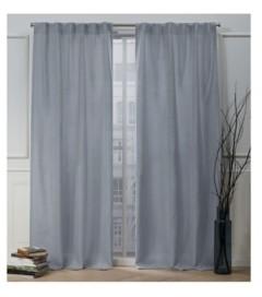 "Exclusive Home Nicole Miller Faux Linen Slub Textured Hidden Tab Top 54"" X 84"" Curtain Panel Pair"