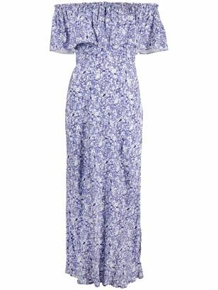 Rixo Floral Off-Shoulder Midi Dress