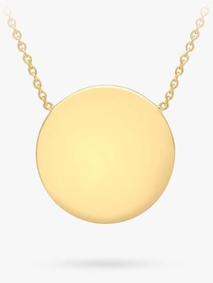 Ibb IBB Personalised Round Disc Pendant Necklace