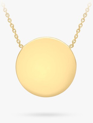 IBB Personalised Round Disc Pendant Necklace