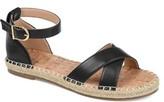 Brinley Co. Womens Crisscross Espadrille Sandal