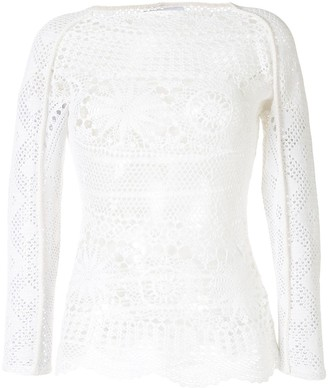Marine Serre Crochet Knitted Top