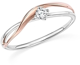 Bloomingdale's Diamond Crossover Ring in 14K Rose and White Gold, .10 ct. t.w. - 100% Exclusive