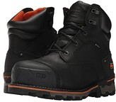 Timberland Boondock 6 Composite Safety Toe Waterproof (Black Full Grain Leather) Men's Work Lace-up Boots