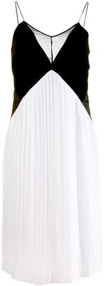 Victoria Victoria Beckham Two-Tone Sleeveless Dress