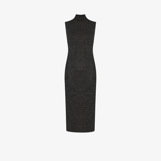 Fendi Bustier Embossed Knit Midi Dress
